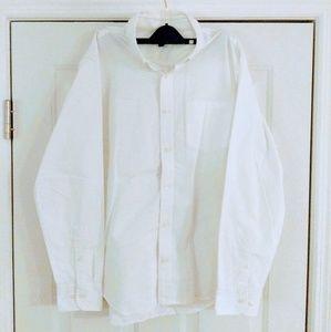 Men's Banana Republic White Oxford Shirt